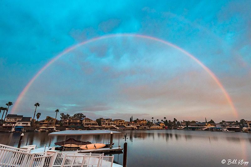 Rainbow over Beaver Bay, Discovery Bay, Ca. Photos by Bill Klipp