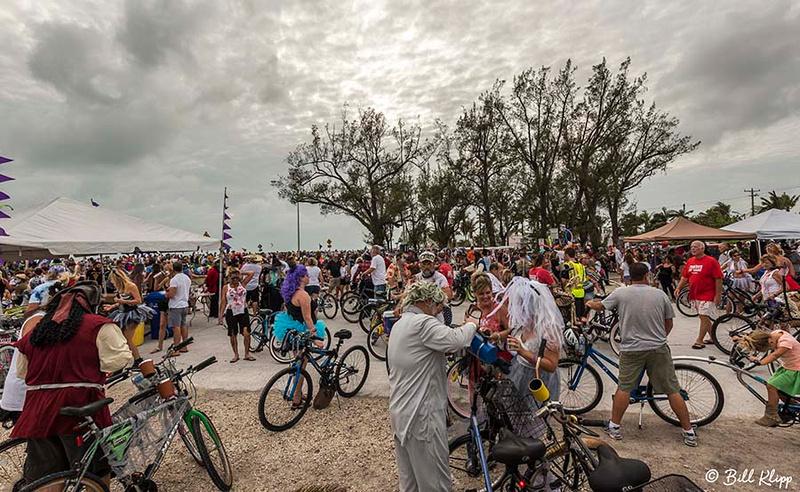 "Zombie Bike Ride, Fantasy Fest 2017, ""Time Travel Unravels"",  Key West Photos by Bill Klipp"