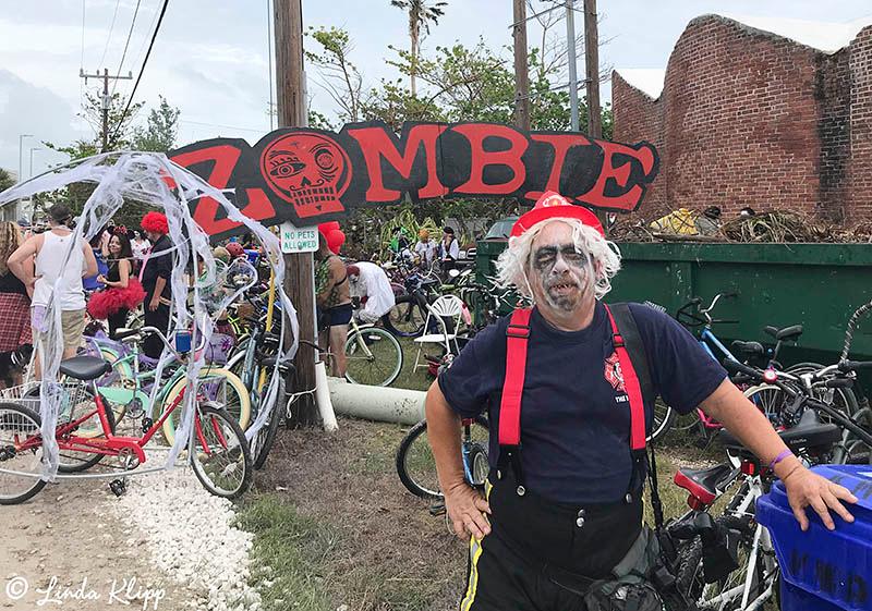 "Zombie Bike Ride, Fantasy Fest 2017, ""Time Travel Unravels"",  Key West Photos by Linda Klipp"