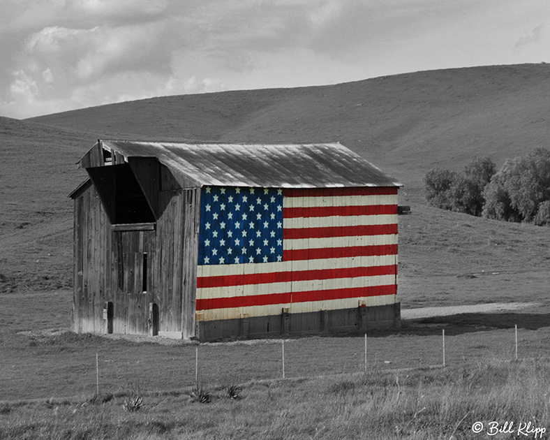Flag Barn, Vasco Road, Byron, Ca. Photos by Bill Klipp