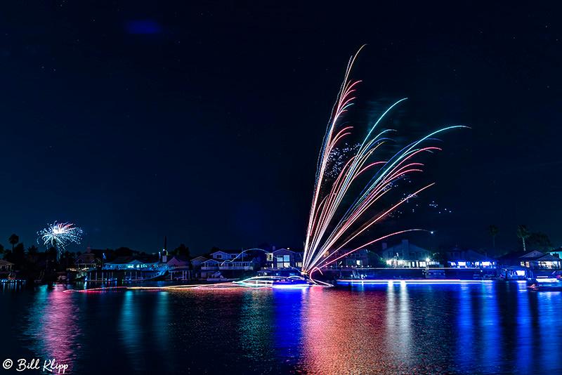 Fireworks, July 4th, Delta Wanderings, Discovery Bay, Photos by Bill Klipp