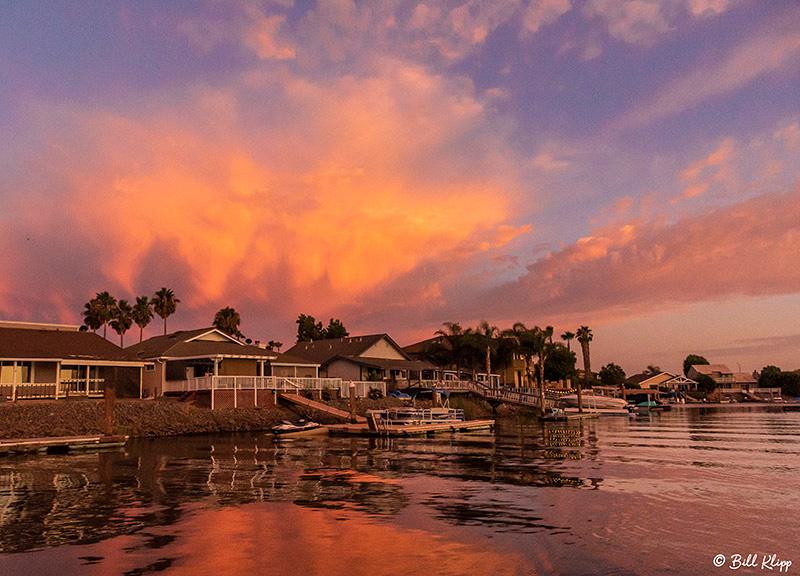 Sunset Clouds, Delta Wanderings, Photos by Bill Klipp