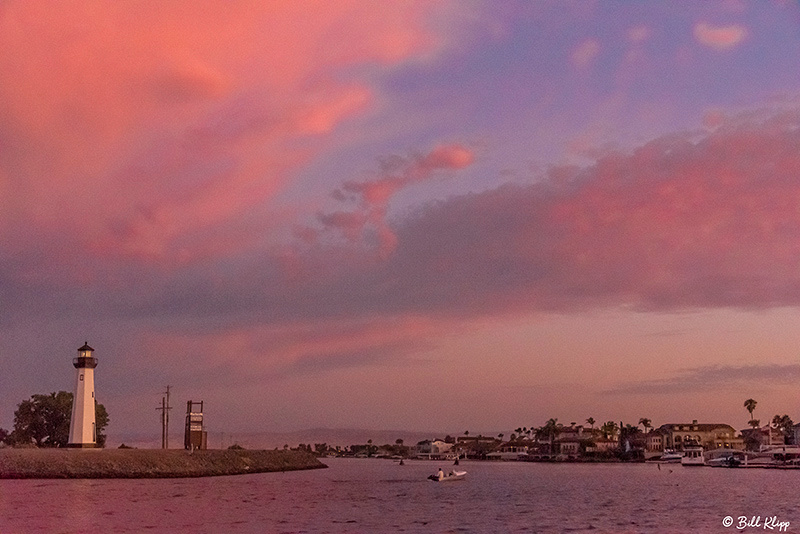 Sunset Lighthouse clouds, Delta Wanderings, Photos by Bill Klipp
