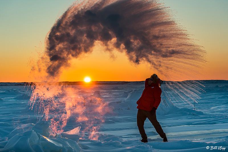 Sunset over the Frozen Tundra, Churchill Canada Photos by Bill Klipp