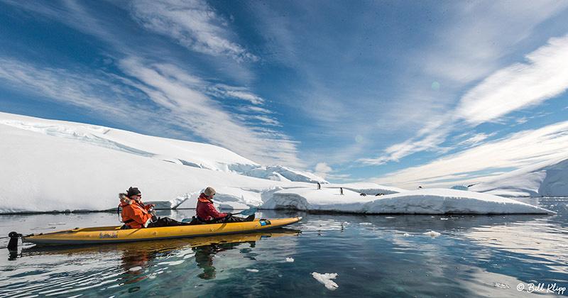 Kayaks, Enterprise Islands, Gerlache Strait, Antarctica, Nov 2017, Photos by Bill Klipp