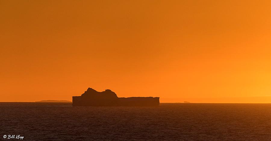 Sunset, Antarctic Sound, Antarctica, Nov 2017, Photos by Bill Kl