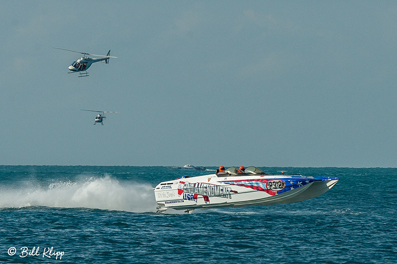 Key West World Championship Power Boat races photos by Bill Klipp. Sunday final races